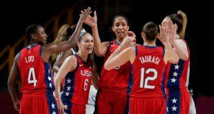 U.S. women get 50th straight Olympic hoops win