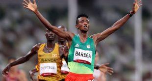Selemon Barega wins men's 10,000 metres in all-Africa podium