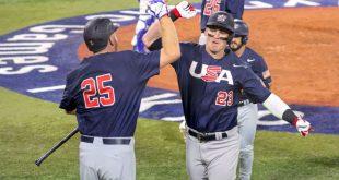 U.S. baseball routs Israel in opener; D.R. wins
