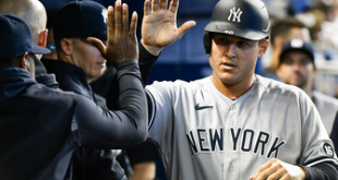 Anthony Rizzo homers again, Yankees double up Marlins, 4-2