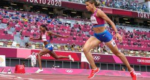 McLaughlin breaks 400m hurdles WR to win gold