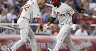 Phillies ride four-run ninth inning to 6-5 win over Nationals